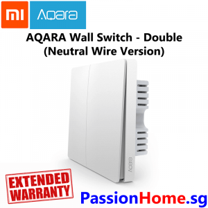 Aqara Wall Switch Double Switch Gang (Neutral Wire Version) - Light Control Passion Home - Xiaomi Mijia New 1