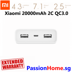 Xiaomi Battery Powerbank 20000mAh Passionhome.sg New 4