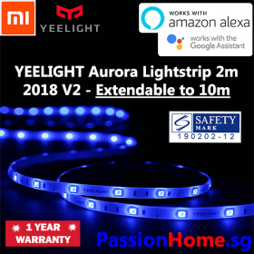 Yeelight LED Smart Light Strip V2 2018 Extendable Colour 2 metres (wifi) - Passion Home 2