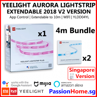 Yeelight Aurora Lightstrip Plus LED Smart Light Strip V2 2018 - Passion Home - 4 metre Bundle