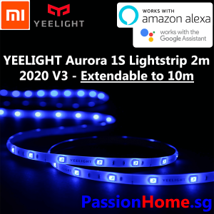 Yeelight LED Smart Light Strip 1S V3 2020 Extendable Colour 2 metres (wifi) - Passion Home 2