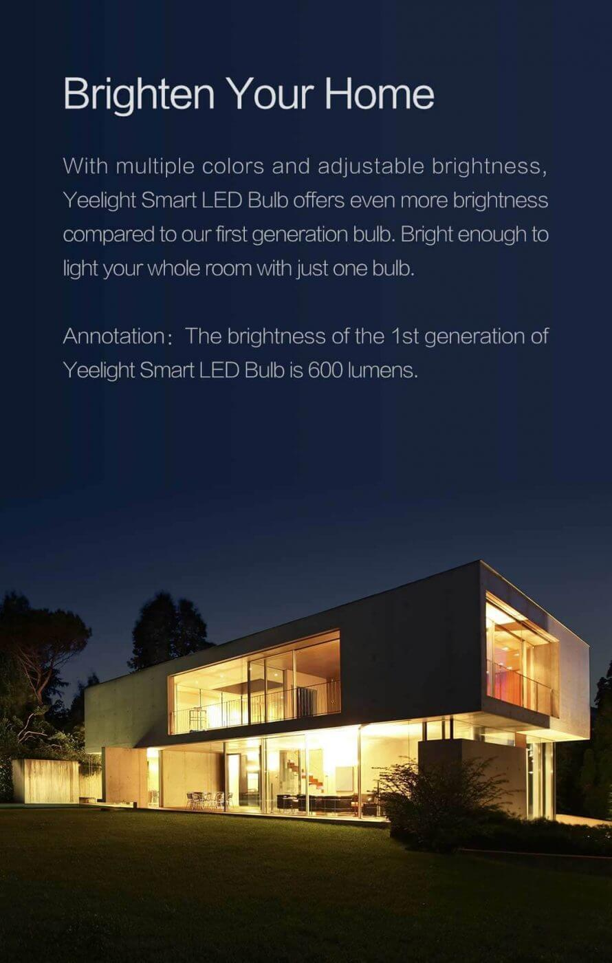 Yeelight Smart LED Bulb (Colour) Ver 2 – 2018 Edition - Mobile 2