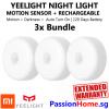 3x Bundle Yeelight Rechargeable Motion Sensor Nightlight - Xiaomi Mi PassionHome.sg