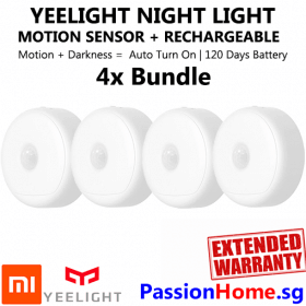 4x Bundle Yeelight Rechargeable Motion Sensor Nightlight - Xiaomi Mi PassionHome.sg - Copy