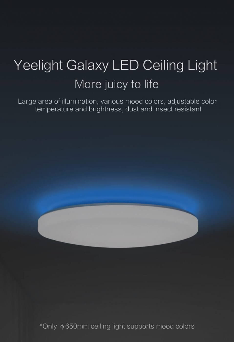 Yeelight Jiaoyue LED Ceiling Light 650 (white) PassionHome.sg 1