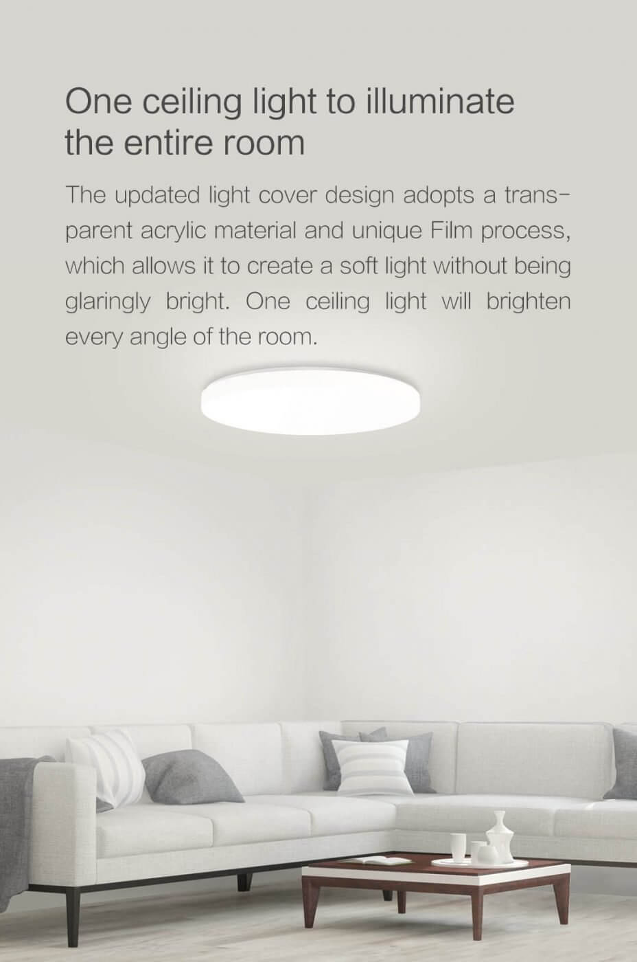 Yeelight Jiaoyue LED Ceiling Light 650 (white) PassionHome.sg 10