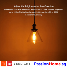 Yeelight Smart LED Filament Bulb ST64 YLDP23YL 2020 PassionHome.sg Passion Home 2