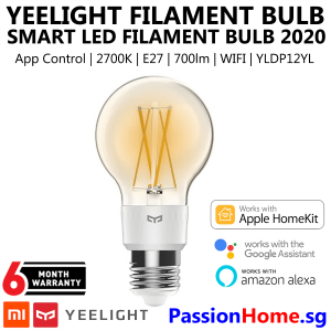 Yeelight Smart LED Filament Bulb YLDP12YL 2020 PassionHome.sg Passion Home 1