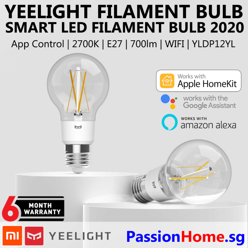 Yeelight Smart LED Filament Bulb YLDP12YL 2020 PassionHome.sg Passion Home 3.1