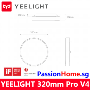 Yeelight LED Ceiling Light - Luna YLXD76YL 320mm Pro V4 PassionHome.sg (2 Years Official Warranty) 4